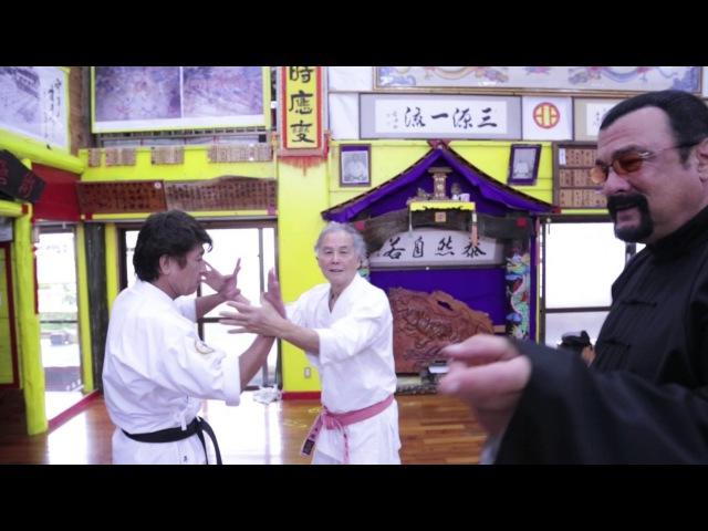 Steven segal came to Okinawa to visit Tetsuhiro Hokama