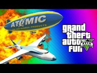 GTA 5 Online Glitches & Mods - Tank Teleport Glitch, Cargo Plane, Blimp Fun (GTA 5 Funny Moments)