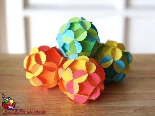 ✨ Новогодние шары из бумаги ============================== ✂ #hand_made #сделай_сам #мастер_классы