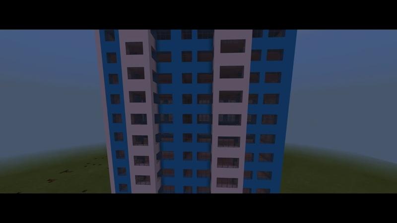 II Жилая 10 этажка II Город в Minecraft 5 II