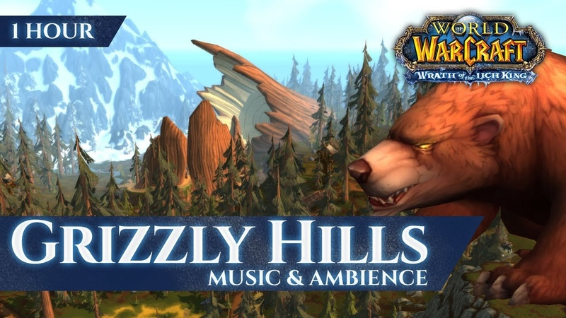 Grizzly Hills - Music Ambience (1 hour, 4K, World of Warcraft Wrath of the Lich King)