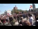 Парад военнопленных 2014 года в Донецке