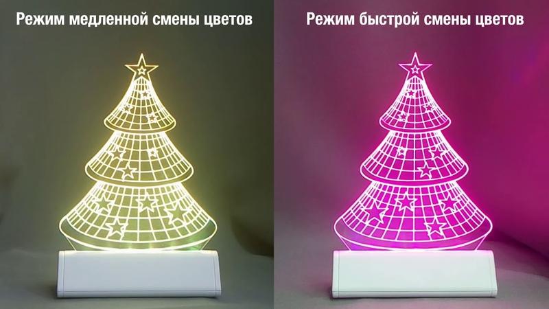 Сувенир с подсветкой Светозар RGB LED-подсветкой. Сравнение режимов