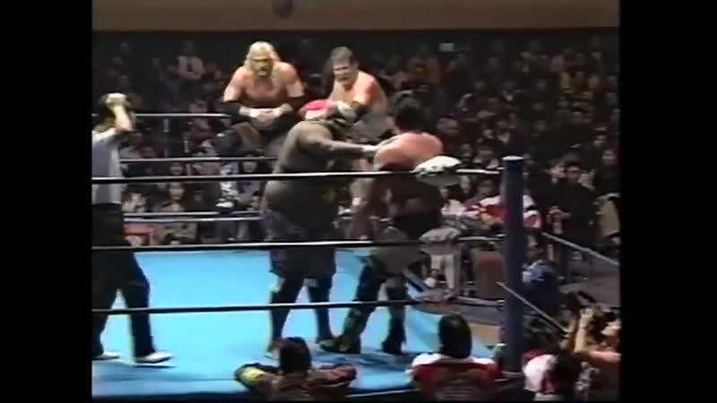1997.11.28 - Barry Windham/Justin Bradshaw/Maunakea Mossman vs. Stan Hansen/Giant Kimala II/Bobby Duncum Jr.