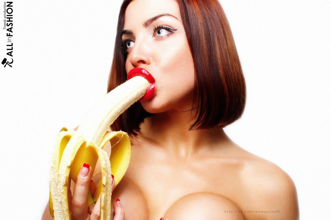 Девушки сосущие бананы фото 164-607