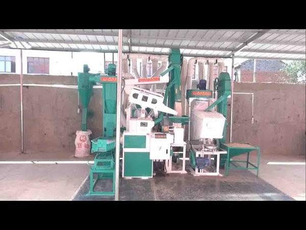 Big size combined rice paddy milling production line capacity 20 TPD