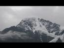 Вид с высоты примерно 2500 метров над уровнем моря горы Чегет
