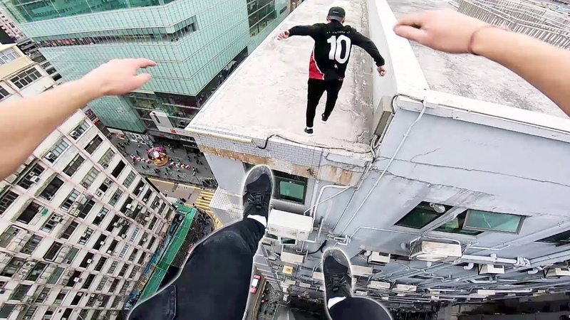Rooftop POV Escape from Hong Kong security! 🇭🇰