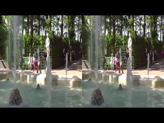 3D-прогулка через Летний сад (side by side)стереопара sbs