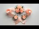 Бант с розами на выписку из роддома