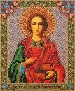 Икона Святого Пантелеймона В-159 Кроше В набор для вышивания иконы бисером Святого Великомученника и Целителя...