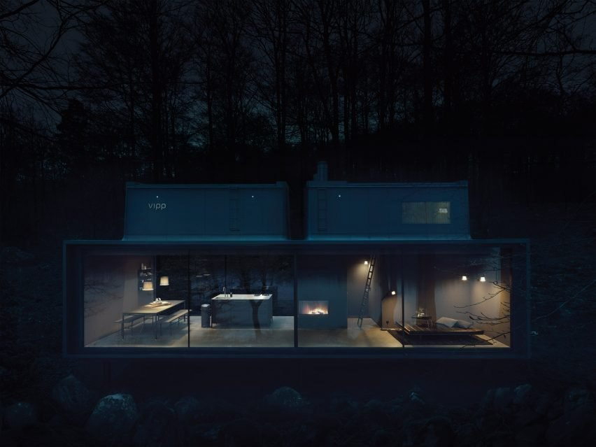 """sIXbMDky28g - Vipp prefabricated cabins designed as """"battery-charging stations for humans"""""""
