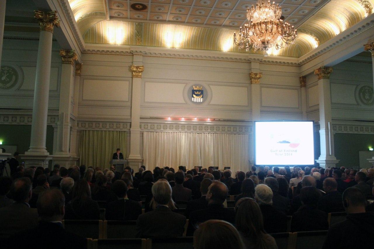 С приветственным словом выступает президент Финляндии Саули Ниинисте