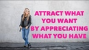 Attract What You Want by Appreciating What You Have