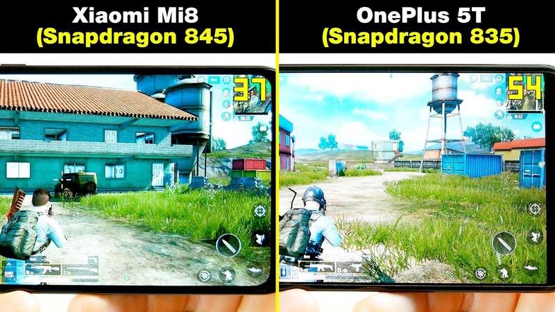 Xiaomi Mi8 (Snapdragon 845) vs OnePlus 5T (Snapdragon 835) В ИГРАХ! FPS НАГРЕВ