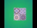 Встречайте новинку в формате 20x20 эффектно имитирующую плитку 10х10 Матовая поверхность плитки с красочным перемешанным рисун