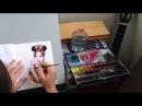 Катя Клэп портрет в скетчбуке от Анэты Печеневской