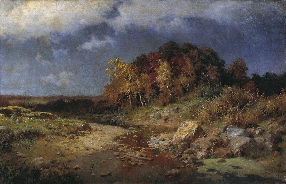 """А. Киселев, """"Осень. Ветреный день""""."""
