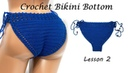 Вязания бикини крючком - Урок 2 / How to Crochet Bikini Bottom - DIY - Tutorial