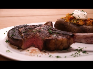 …What The Rock is Cooking  Tomahawk Steak  Twice Baked Potato