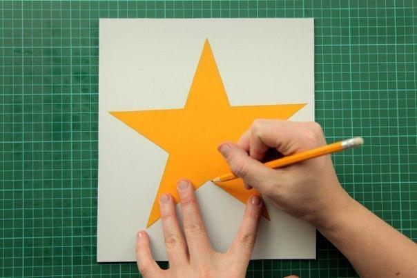 Как из картона сделать звезду на елку