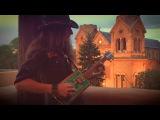 Santa Fe Sunset 4-STRING LICENSE PLATE GUITAR