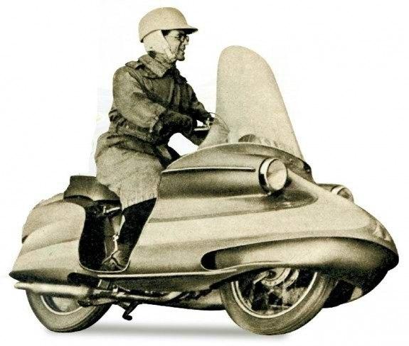 В 1956 году редакция англий- R7, можно понять. ского журнала The MotorCycle совместно с компанией Royal Enfield провела конкурс среди читателей на лучший проект капотированного мотоцикла. Победителя воплотили в металле и пластике