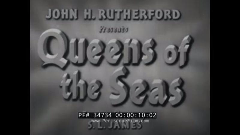 RMS QUEEN ELIZABETH RMS QUEEN MARY QUEENS OF THE SEAS CUNARD LINES OCEAN LINER FILM 34734