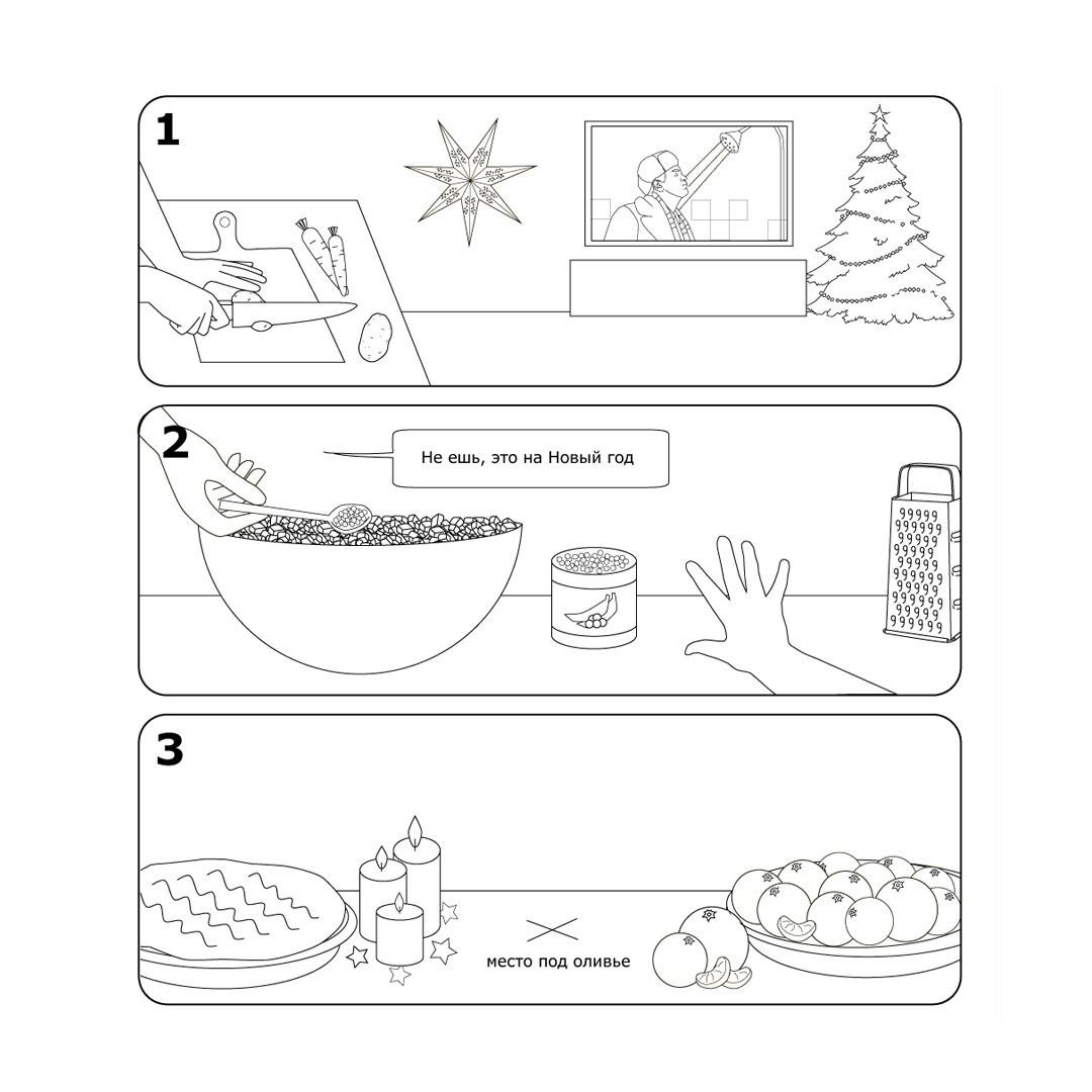 Инструкция по сборке оливье от Икеа