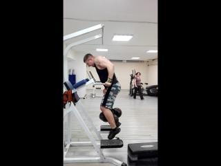 Брусья 120кг на 2 раза, тренер В.А.Небученных
