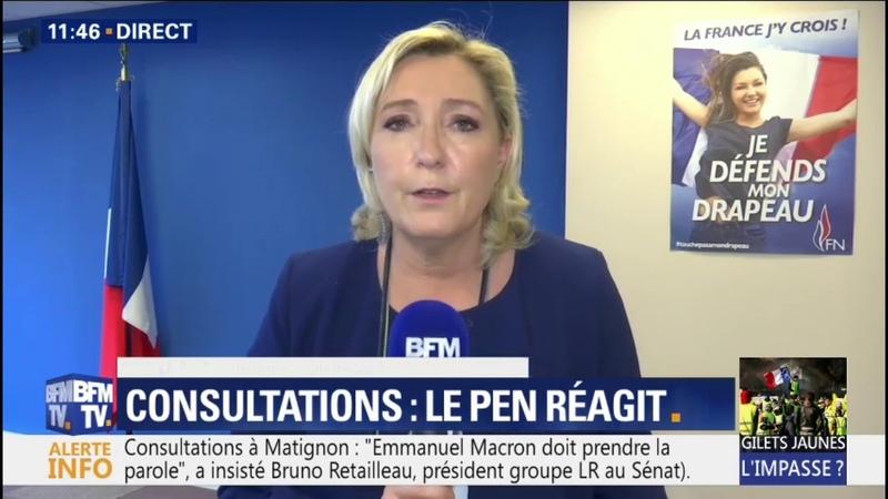 Marine Le Pen: On vote des lois qui ne sont pas acceptées par la moitié des Français
