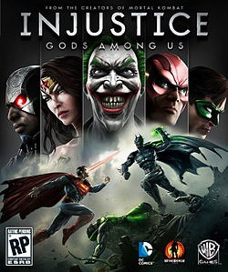 Injustice - Gods Among Us logo, coverart, логотип, картинка