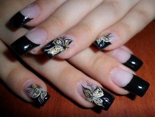 Гелевые ногти заостренной формы для