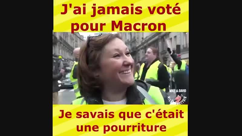 J ai jamais voté pour Macron je savais que c était une