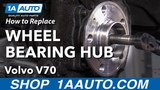 How to Replace Front Wheel Bearing Hub 00-07 Volvo V70