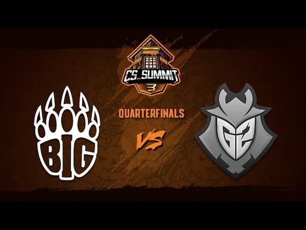 BIG vs G2 Esports, Map 1 Train - cs_summit 3 Quarterfinals - BIG vs G2 G1
