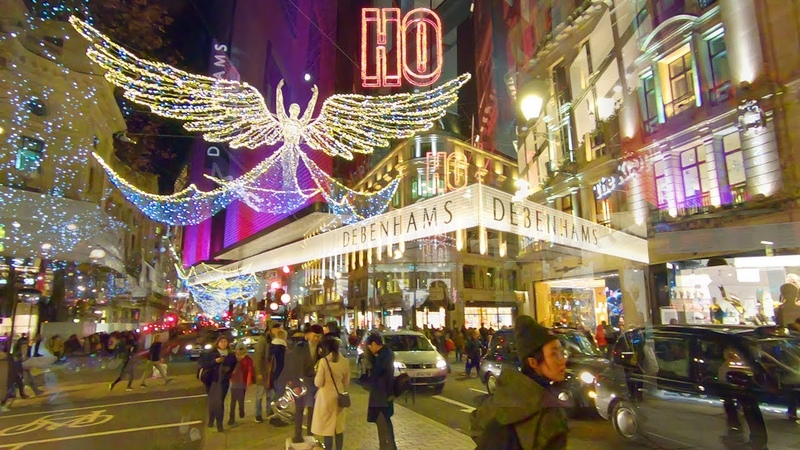 LONDON'S *BEST* CHRISTMAS WALK 🎄 Oxford Street 🎅 Regent Street 🇬🇧 Carnaby Street
