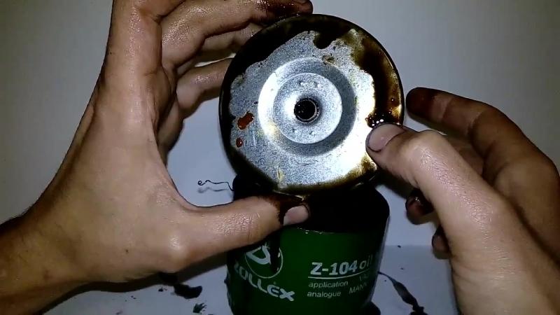 Вскрытие масляного фильтра Zollex после пробега в 8 тыс.км.