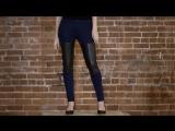 Как сделать декоративные вставки на джинсах