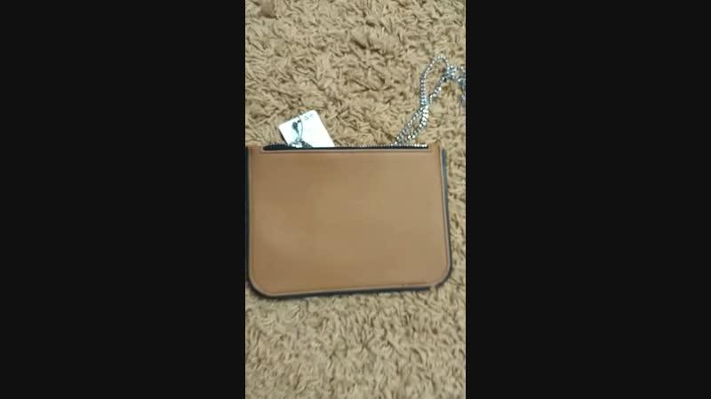 Новая👜 сумочка на длинной цепочке MANGO, внутри отделения для карточек, хлопковый подклад, размер 22 см на 16 см