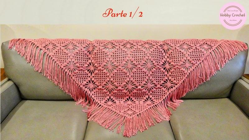 Chal a crochet paso a paso Parte 1 de 2