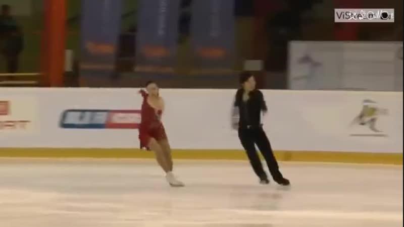 Mentor Torun Cup 2019 Junior Ice Dance RD 2 高浪歩未&池田喜充(Ayumi TAKANAMI Yoshimit