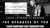 Transcription of Chad Lefkowitz-Brown Solo on