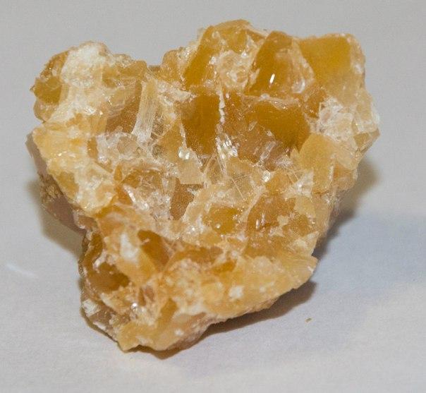 Минералы Сокровища Земли №38 - Желтый кальцит
