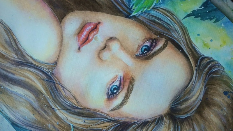 Watercolour portrait Акварельный портрет speedpaint
