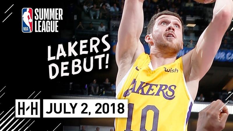 Svi Mykhailiuk Full Lakers Debut Highlights vs Kings (2018.07.02) Summer League - 15 Pts
