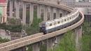 Chongqing Monorail Eight Car Trains