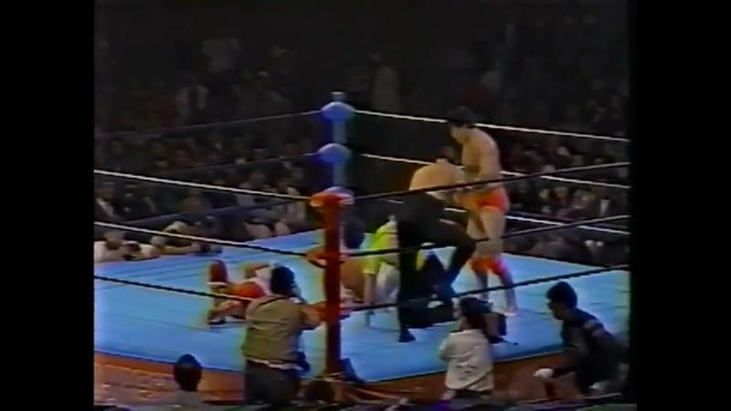 1991 12 04 Kenta Kobashi Tsuyoshi Kikuchi vs Mighty Inoue Rusher Kimura FINISH