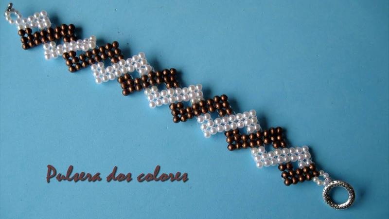 DIY- Pulsera de dos colores - Two color bracelet