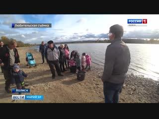 В водах Волги - пополнение_ акцию по зарыблению реки провели жители Волжска - Ве